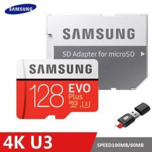 SAMSUNG EVO Plus carte mémoire 8GB/32GB/SDHC 64GB/128GB/256GB/SDXC Micro SD TF carte Class10 Microsd C10 UHS-1 cartes 100% d'origine